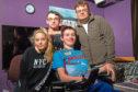 From left, Chloe Mason, her boyfriend, Shain Pedrie, Liam Mason and dad Ronnie Mason.