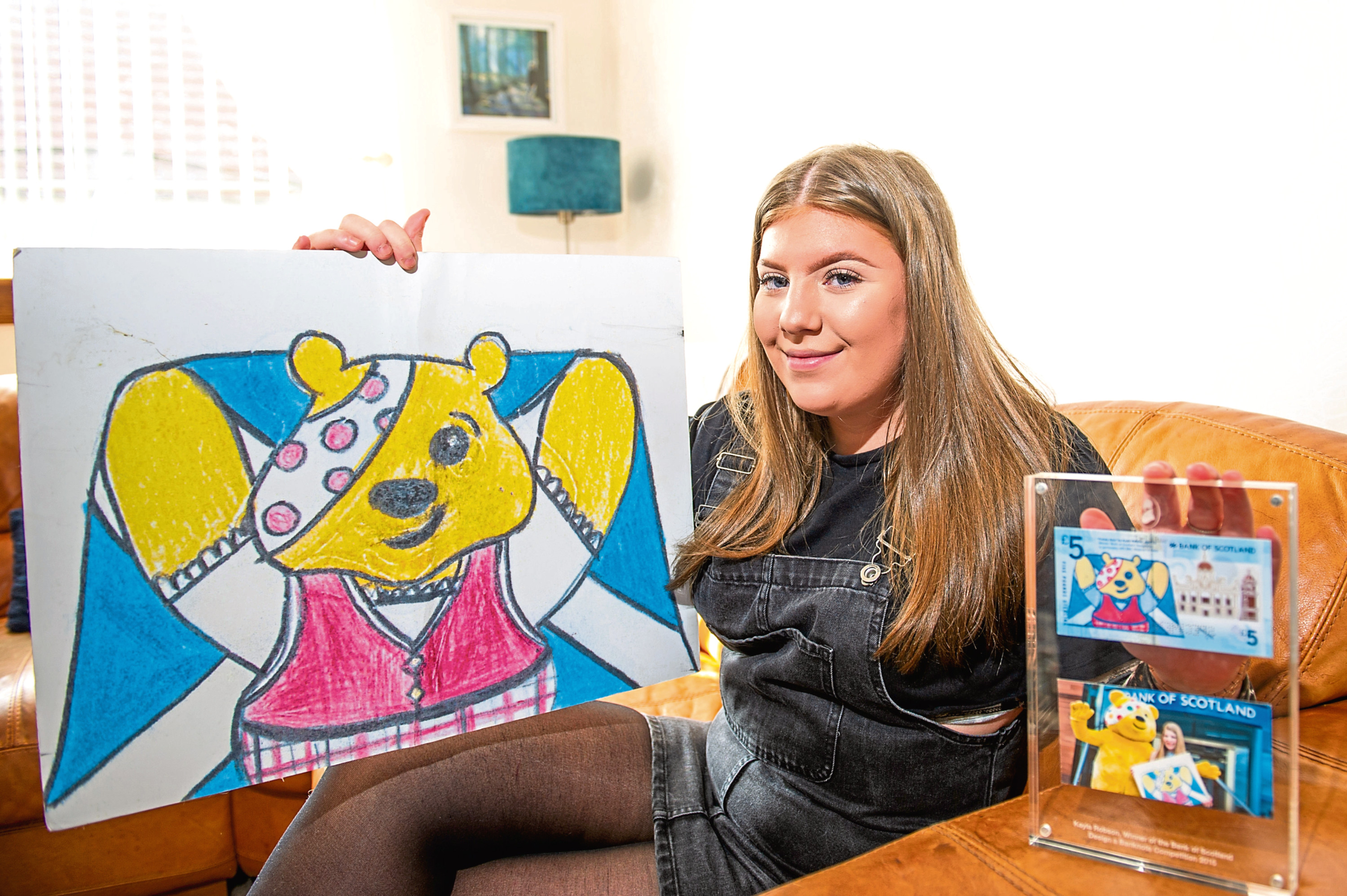 Kayla Robson, who designed the sought after Children in Need banknote when she was 12