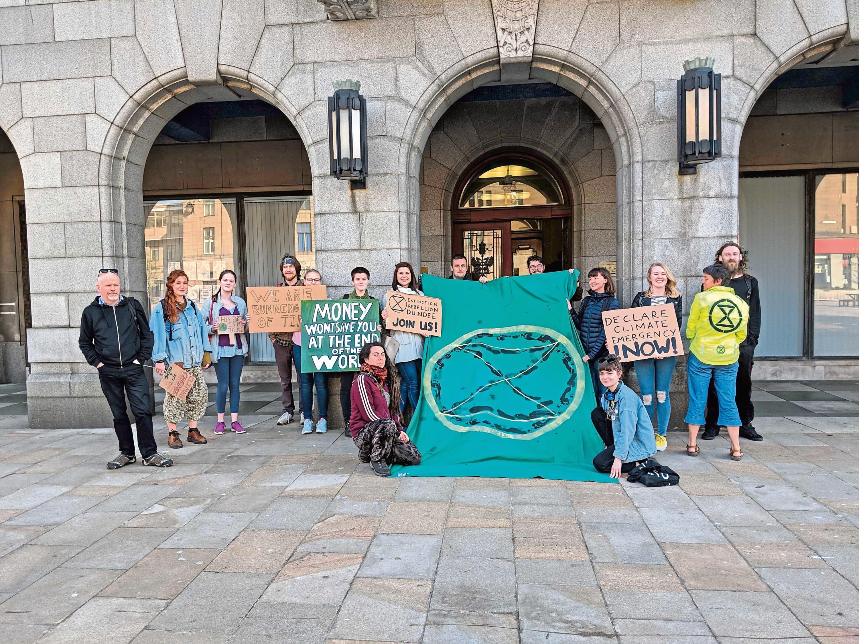 Extinction Rebellion protestors.