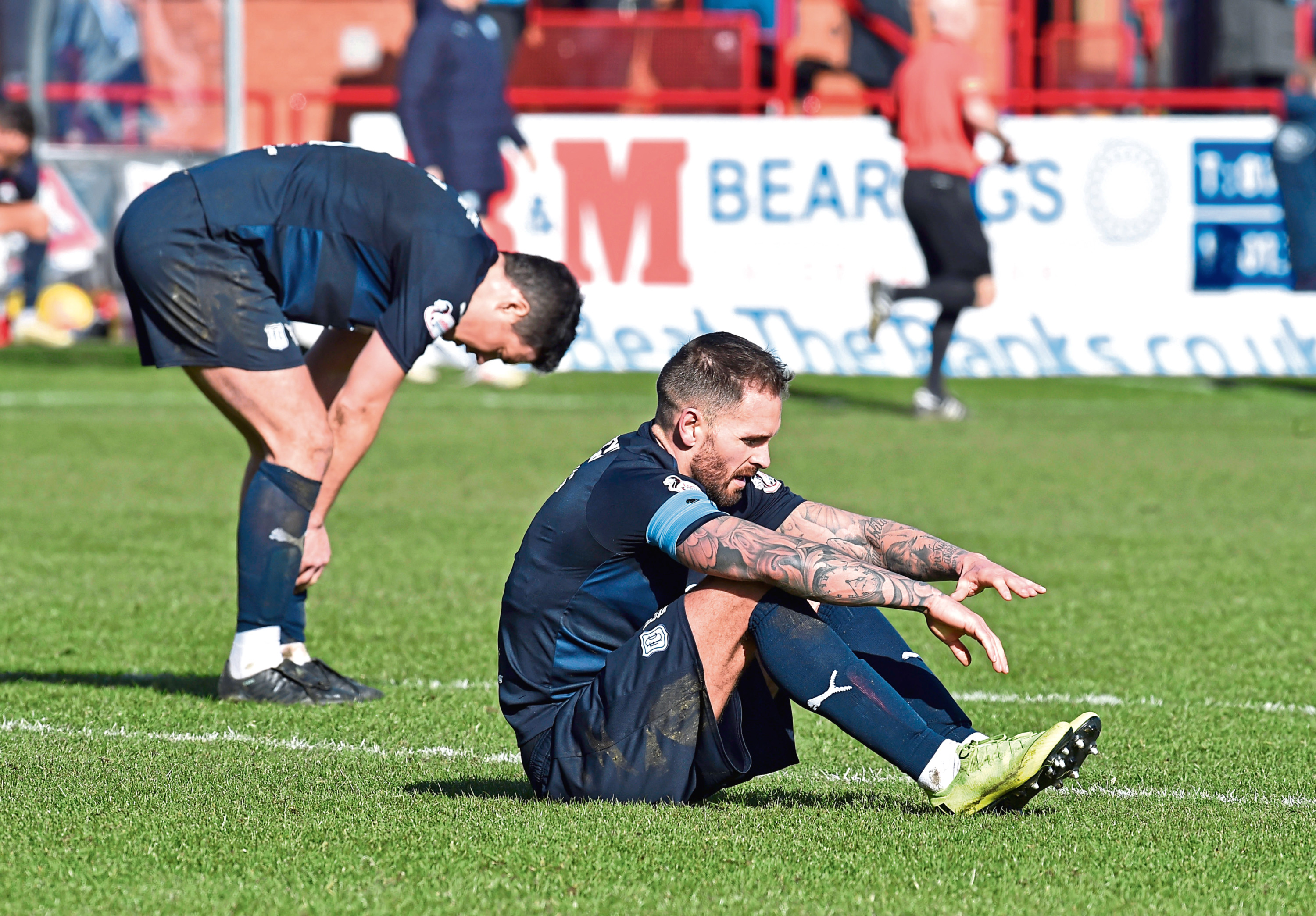 Dundee are facing the drop with a six-point gap to make up and only four matches to do so. Only four wins will prevent them winning the lowest amount of points in a Premeirship campaign.