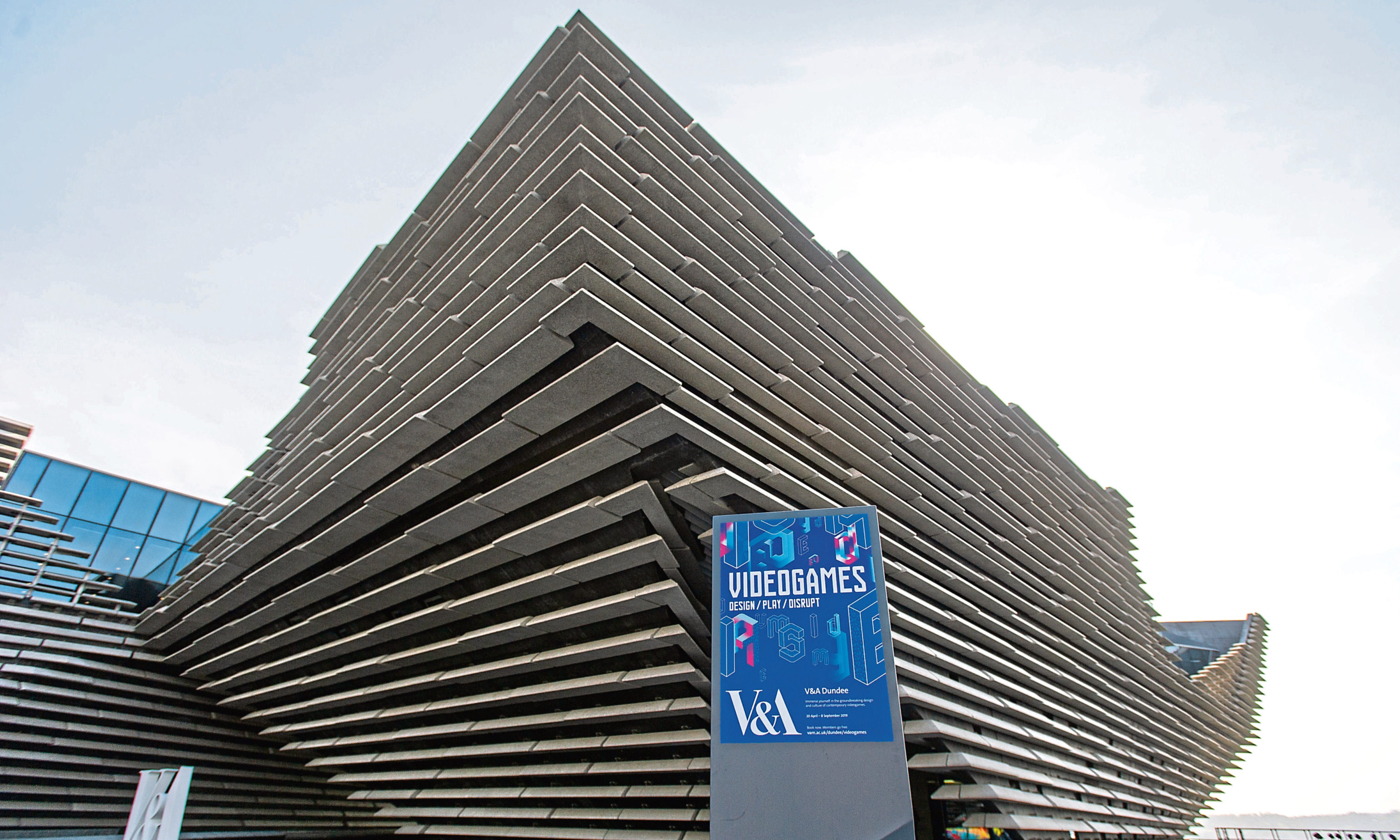 The V&A Museum of Design in Dundee.