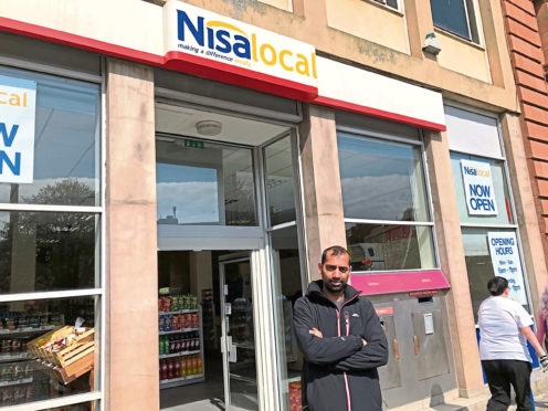 Amir Attiq, the Meadowside store Manager of Nisa.