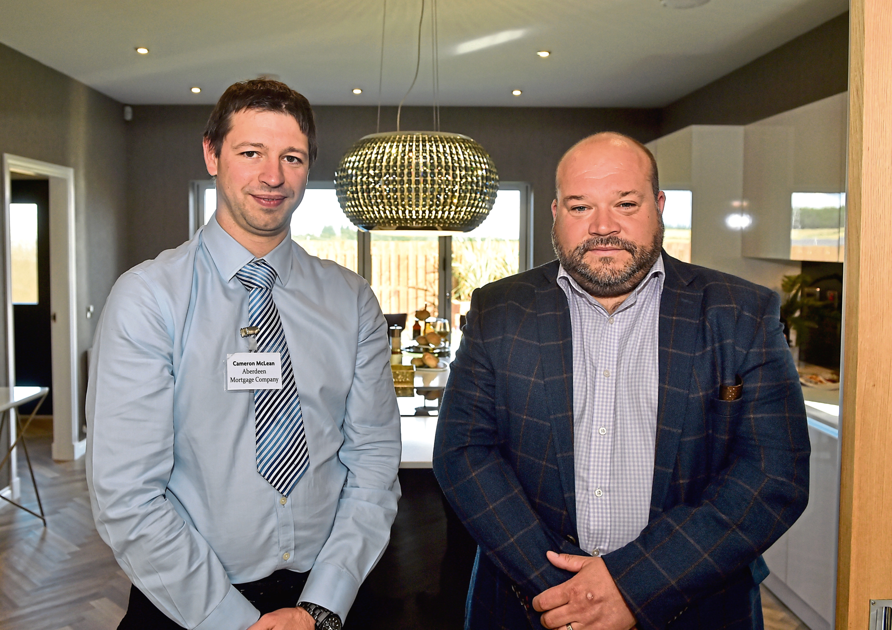 Cameron McLean and Colin Crombie  of Kirkwood Homes.   Picture by Scott Baxter   24/08/2018