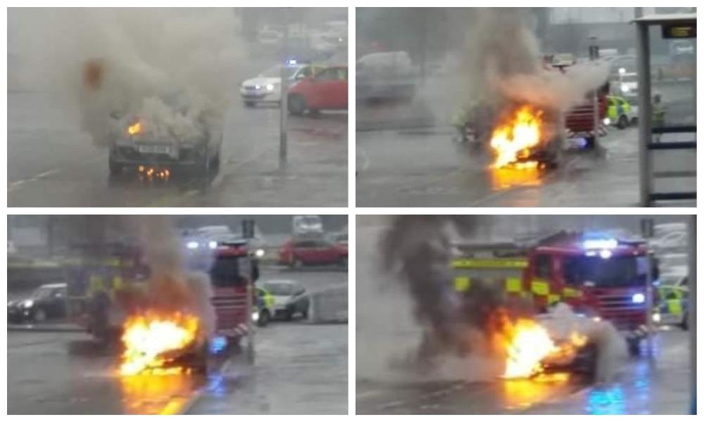 Car fire on Lochee High Street