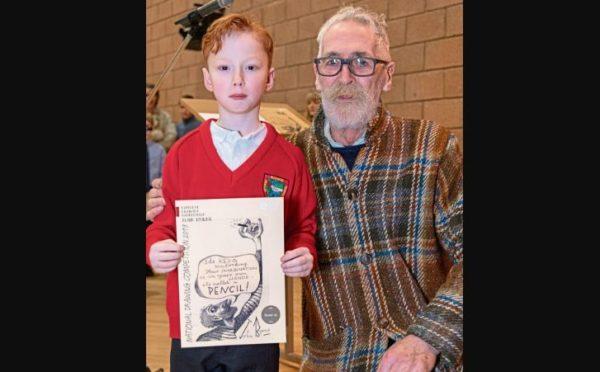 Lochlan Byrnes with renowned artist John Byrne