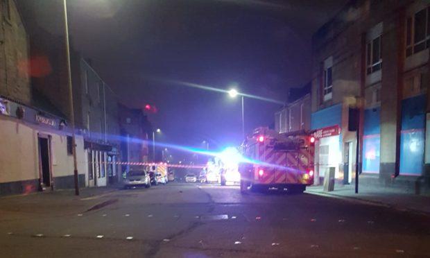 Fire crews at Main Street, Dundee