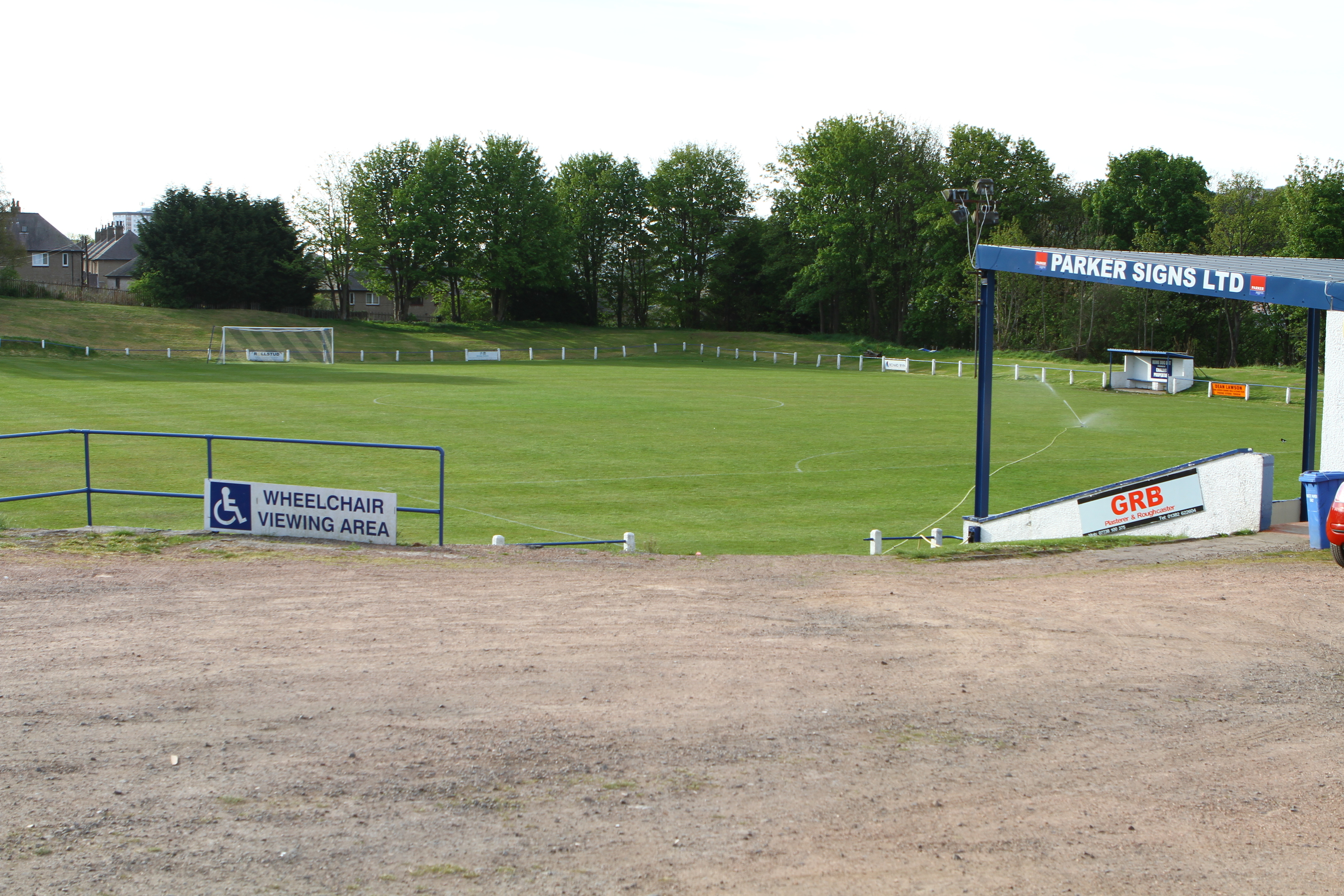 Thomson Park, home of Lochee United.