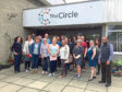 Social entrepreneurs during a viit to The Circle in Dundee.