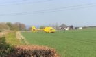 The air ambulance in attendance.