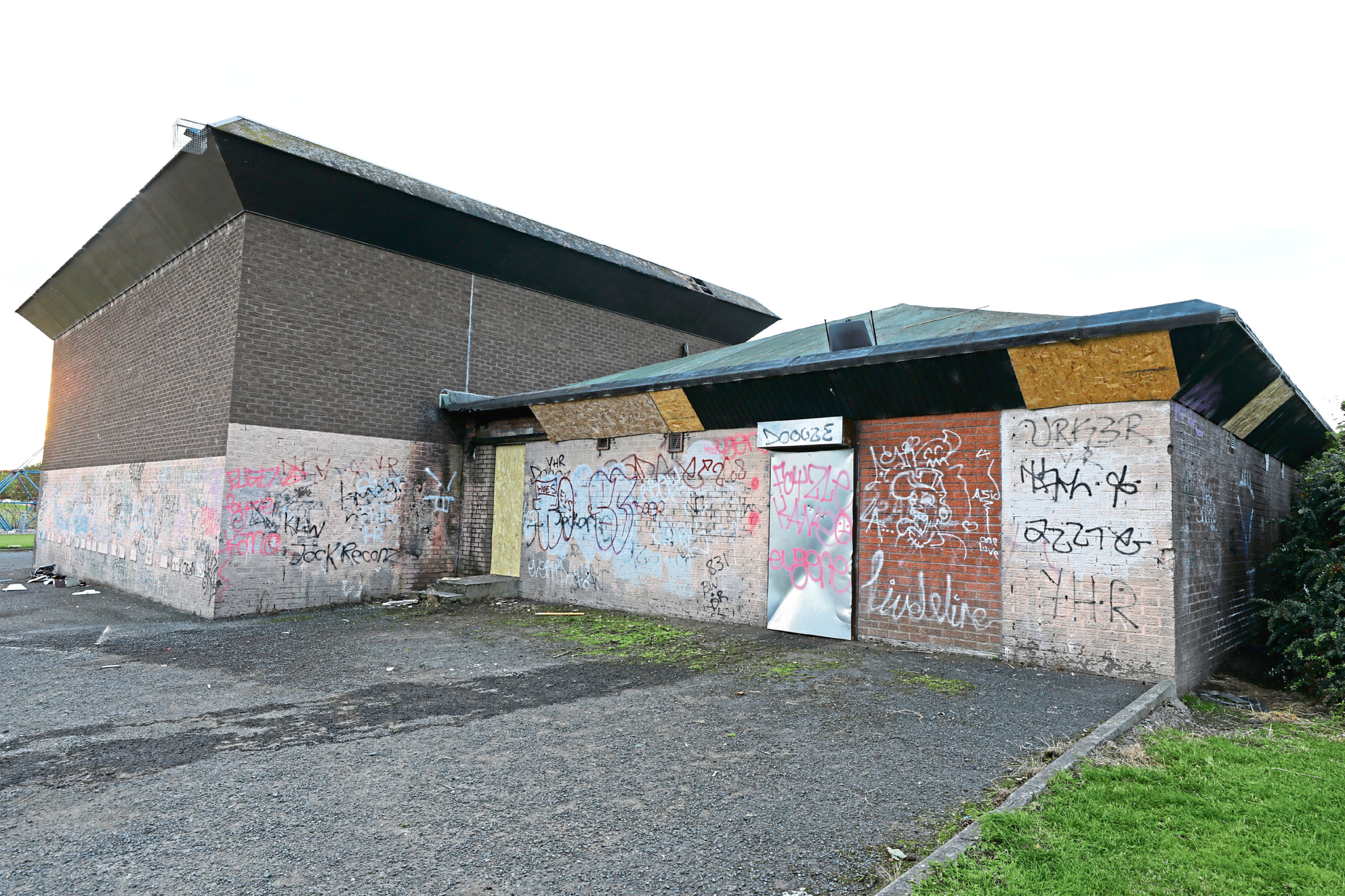 The former Dundee City Council squash courts on Fountainbleau Drive.