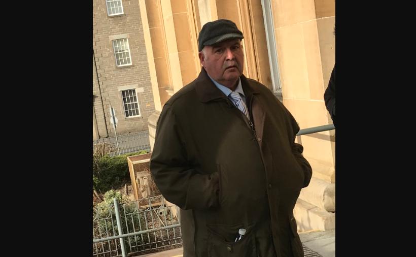 John Deas outside Dundee Sheriff Court, where he was fined.