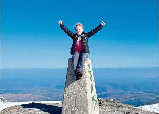 Lyla at the top of Ben Nevis.