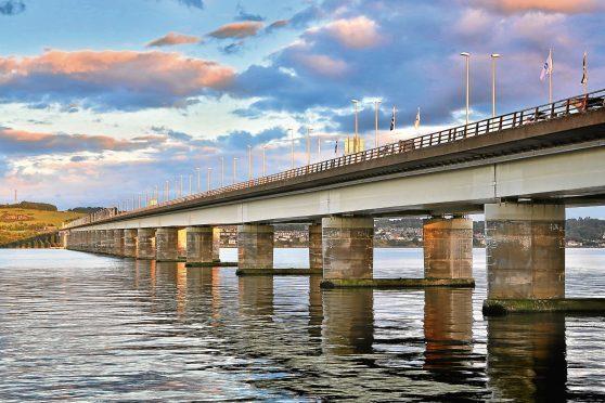 The Tay Road Bridge.