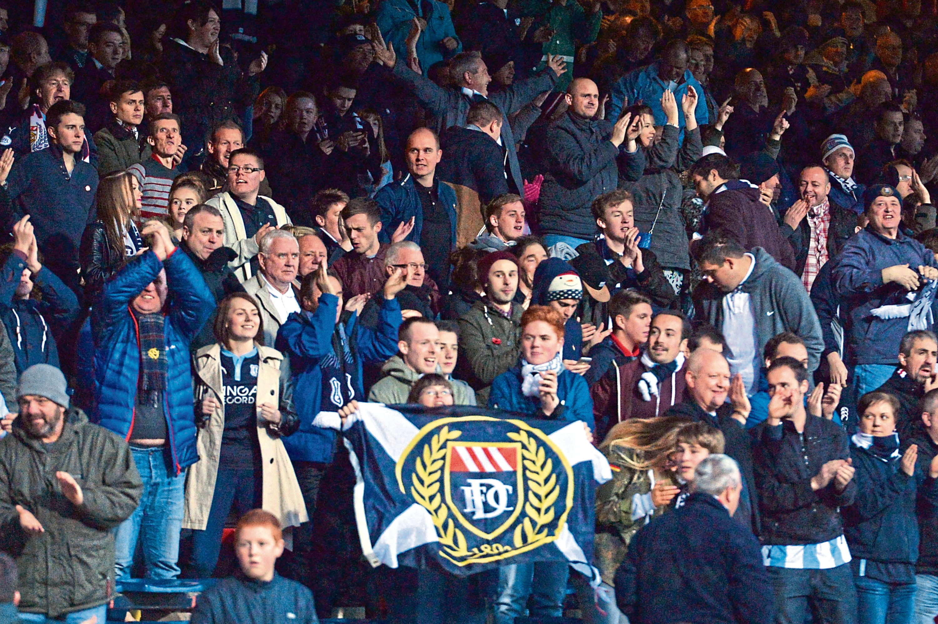 Dundee fans at Dens Park.