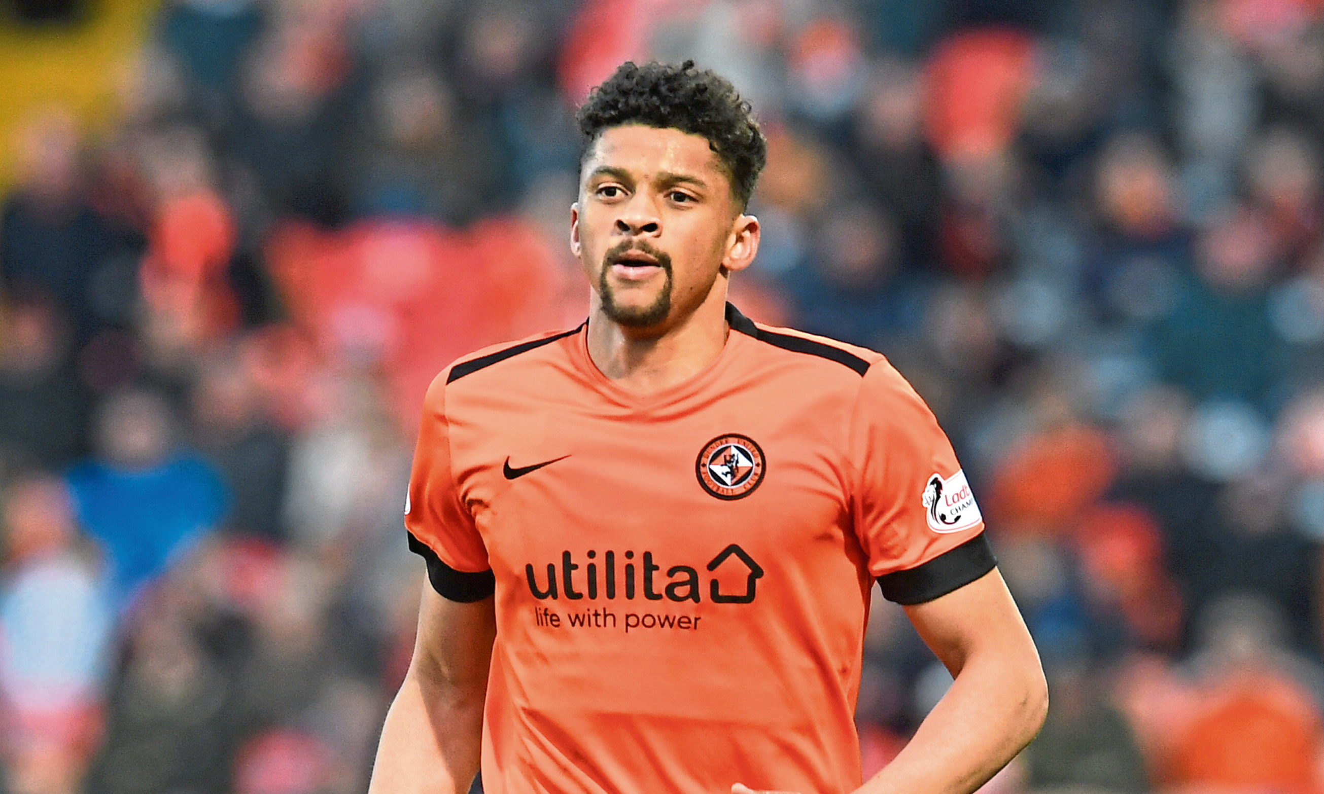 Osman Sow in action for Dundee United.
