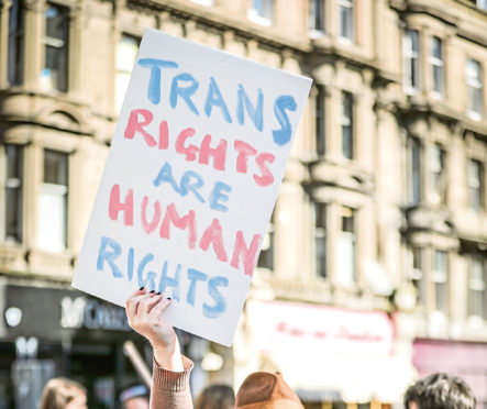 A Trans Pride march was held in Dundee in March