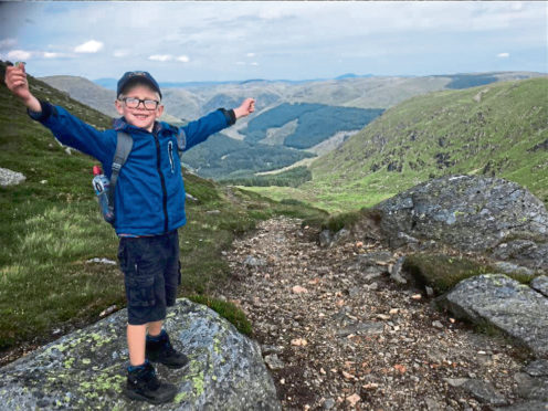 Eliott Thorne is training to climb Ben Nevis at just 9 years old.