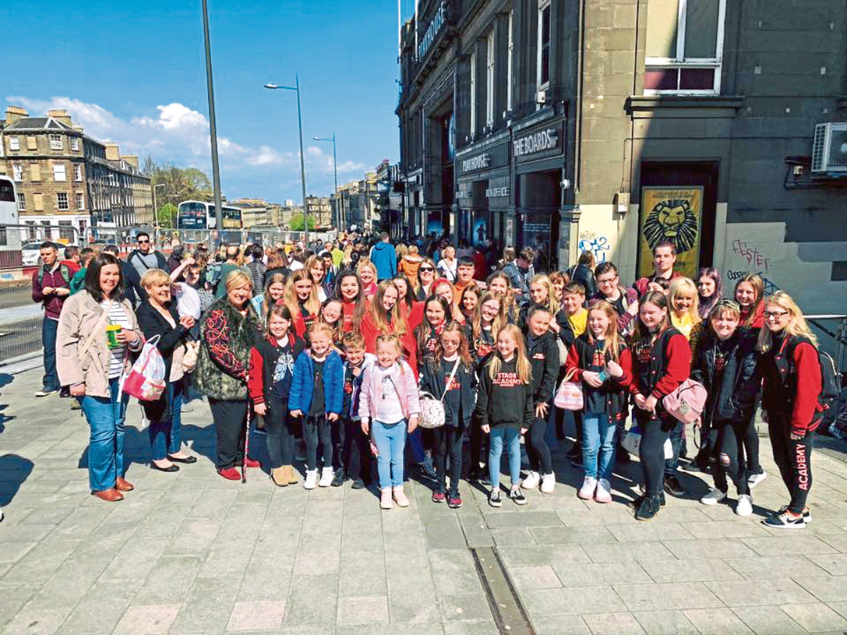 Stage Academy Theatre School Dundee travelled through to Edinburgh to see Matilda the Musical.