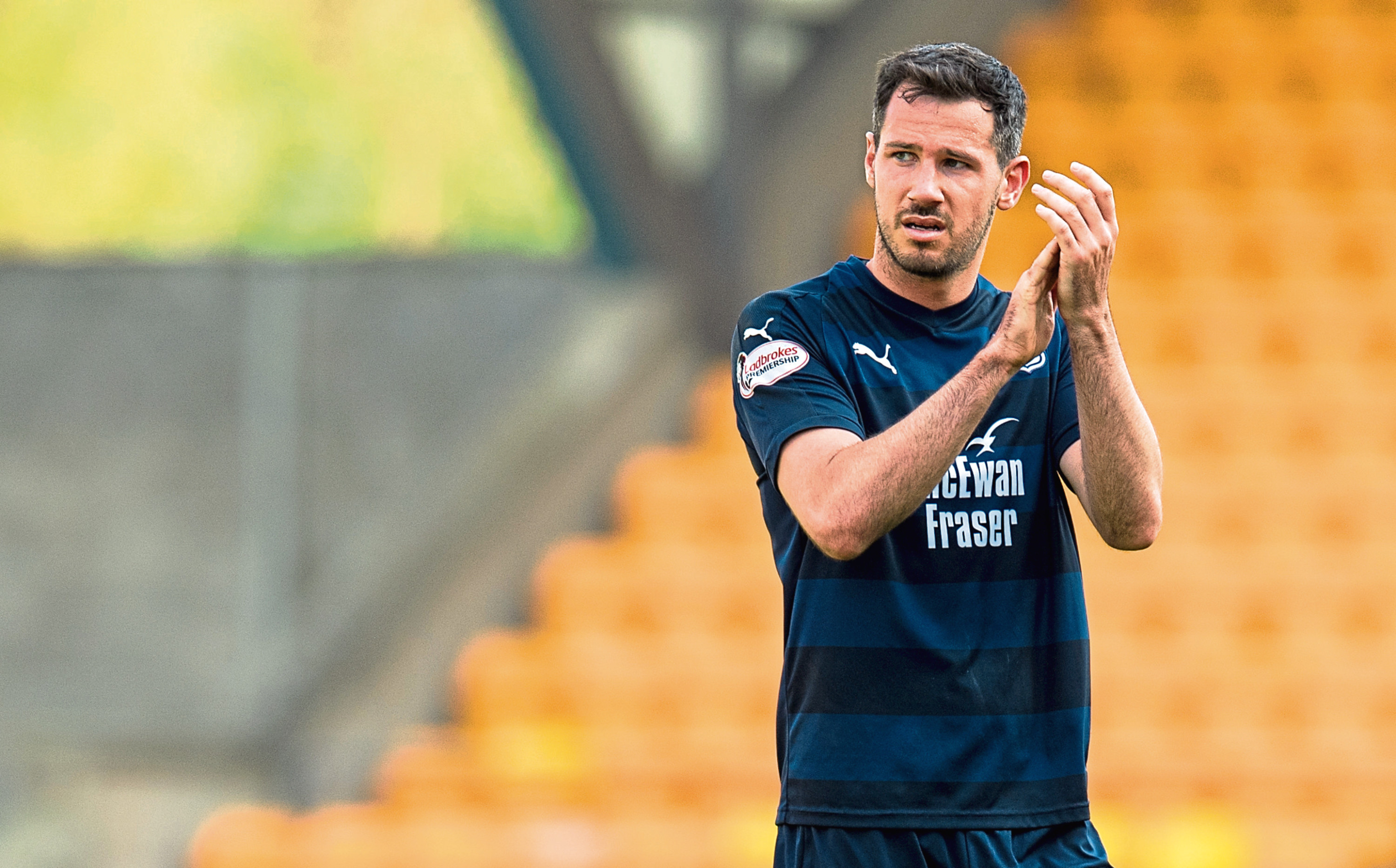 Ex-Dundee and Dundee United man Ryan McGowan's last game in the UK was for the Dark Blues.