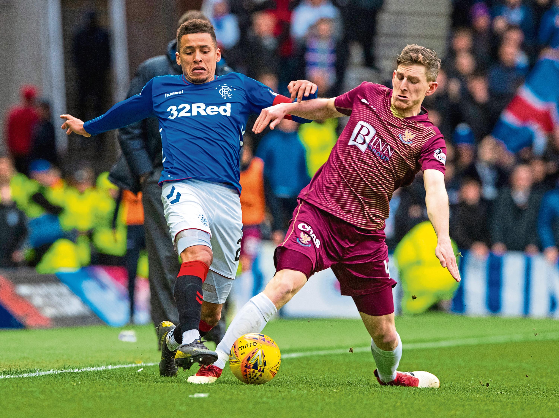 Blair Alston in action against Rangers.