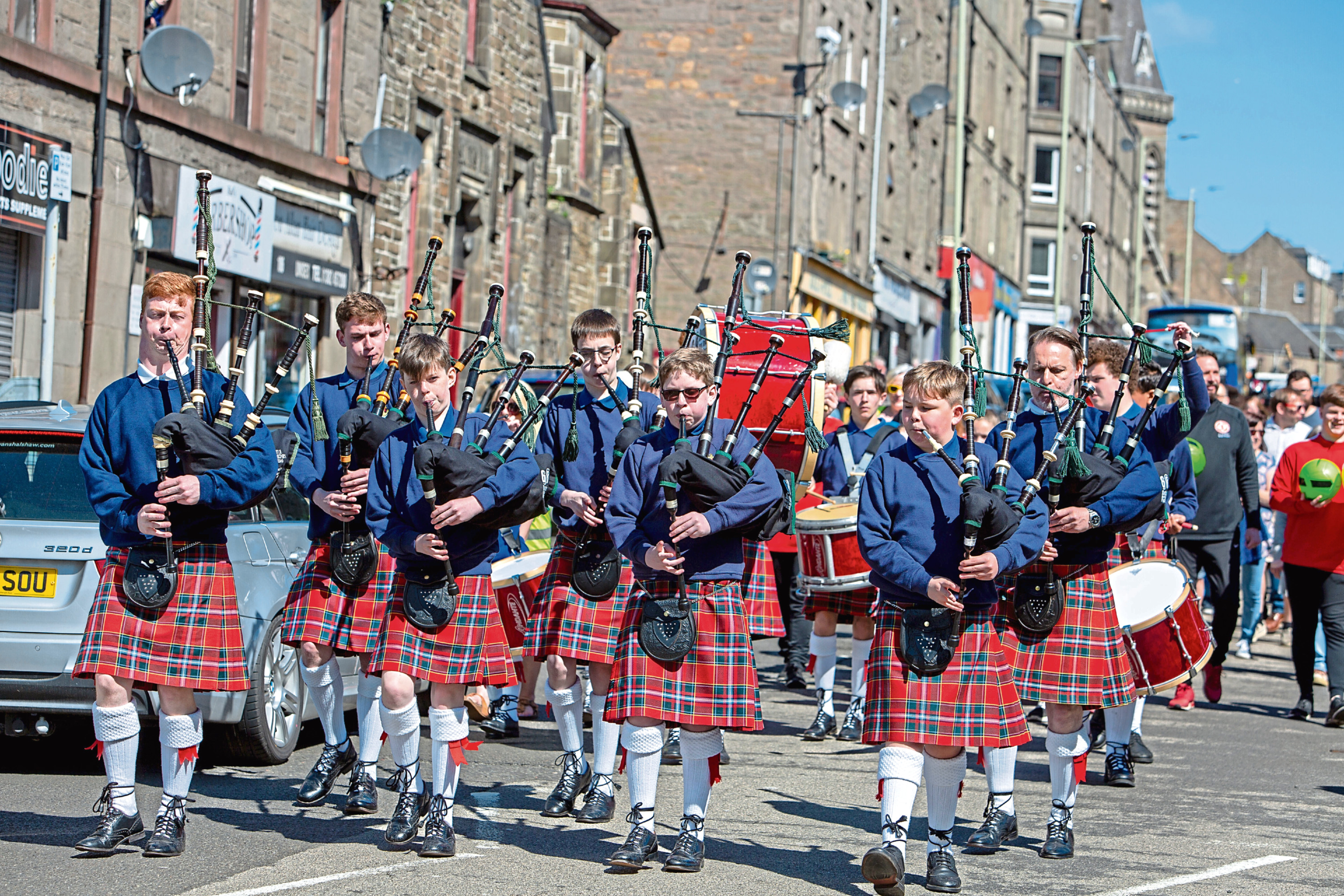 The parade on Albert Street during last year's Stobfest.