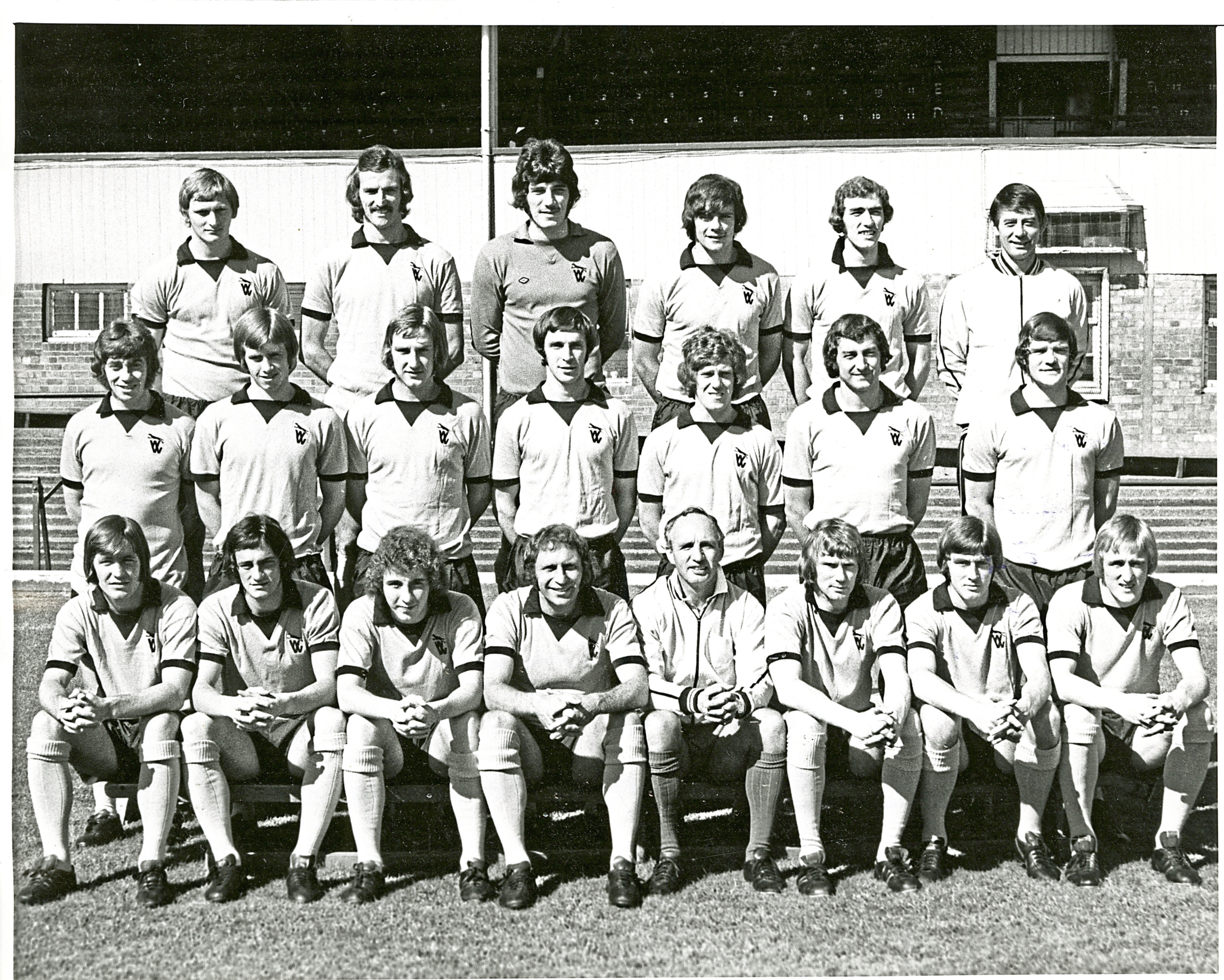 This Wolverhampton Wanderers first-team squad photo was taken in October 1972 and contains some of the players who played against East Fife (see main story). Back row (from left) – Kindon, Dougan, Parkes, Munro, McAlle, Sammy Chung (trainer). Middle row – Hegan, Eastoe, Daley, Taylor, Shaw, O'Grady, Curren. Front row – McCalliog, Hibbitt, Sunderland, Bailey, McGarry (manager), Wagstaff, Richards, Parkin