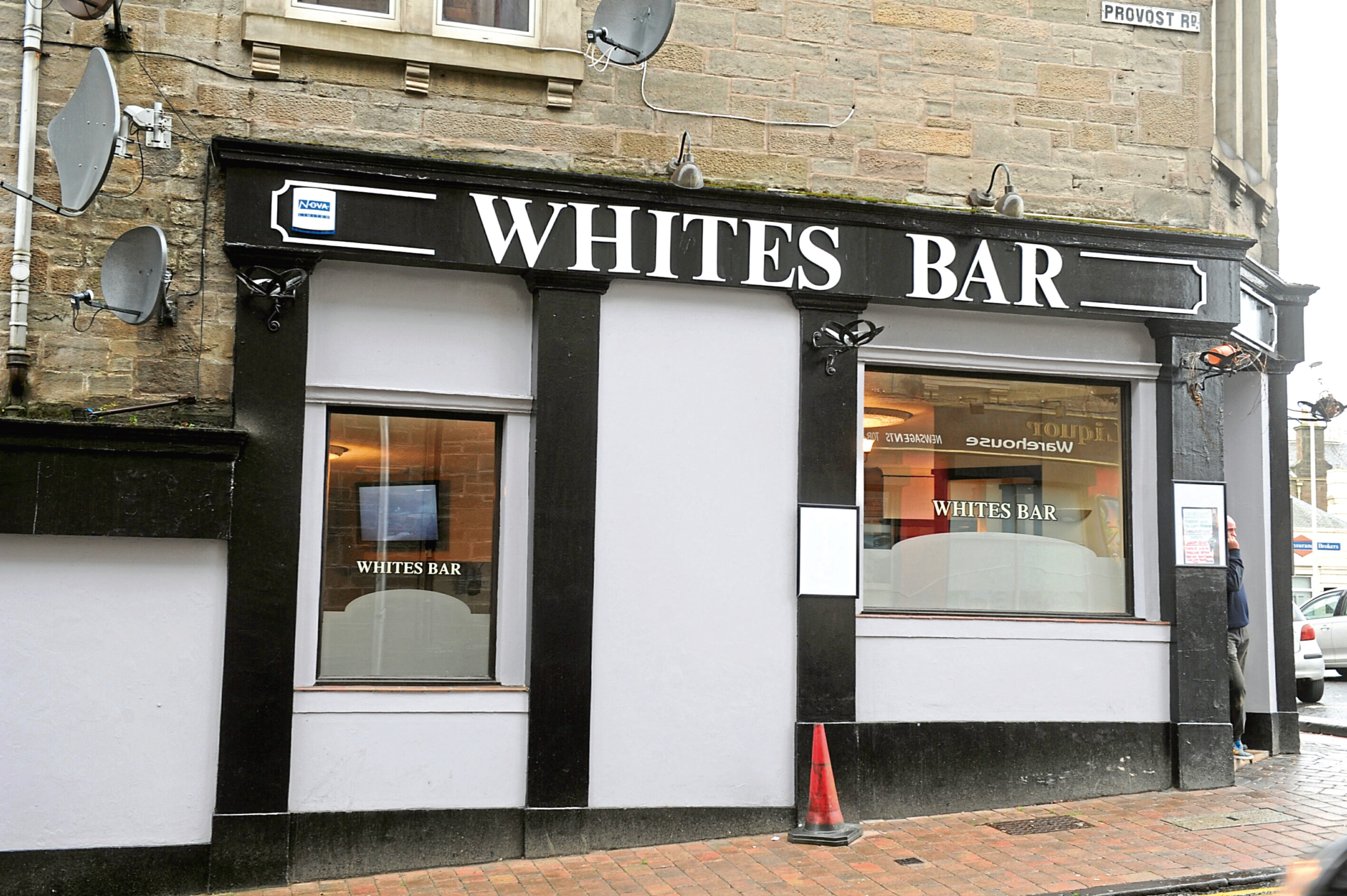 Whites Bar in Provost Road.