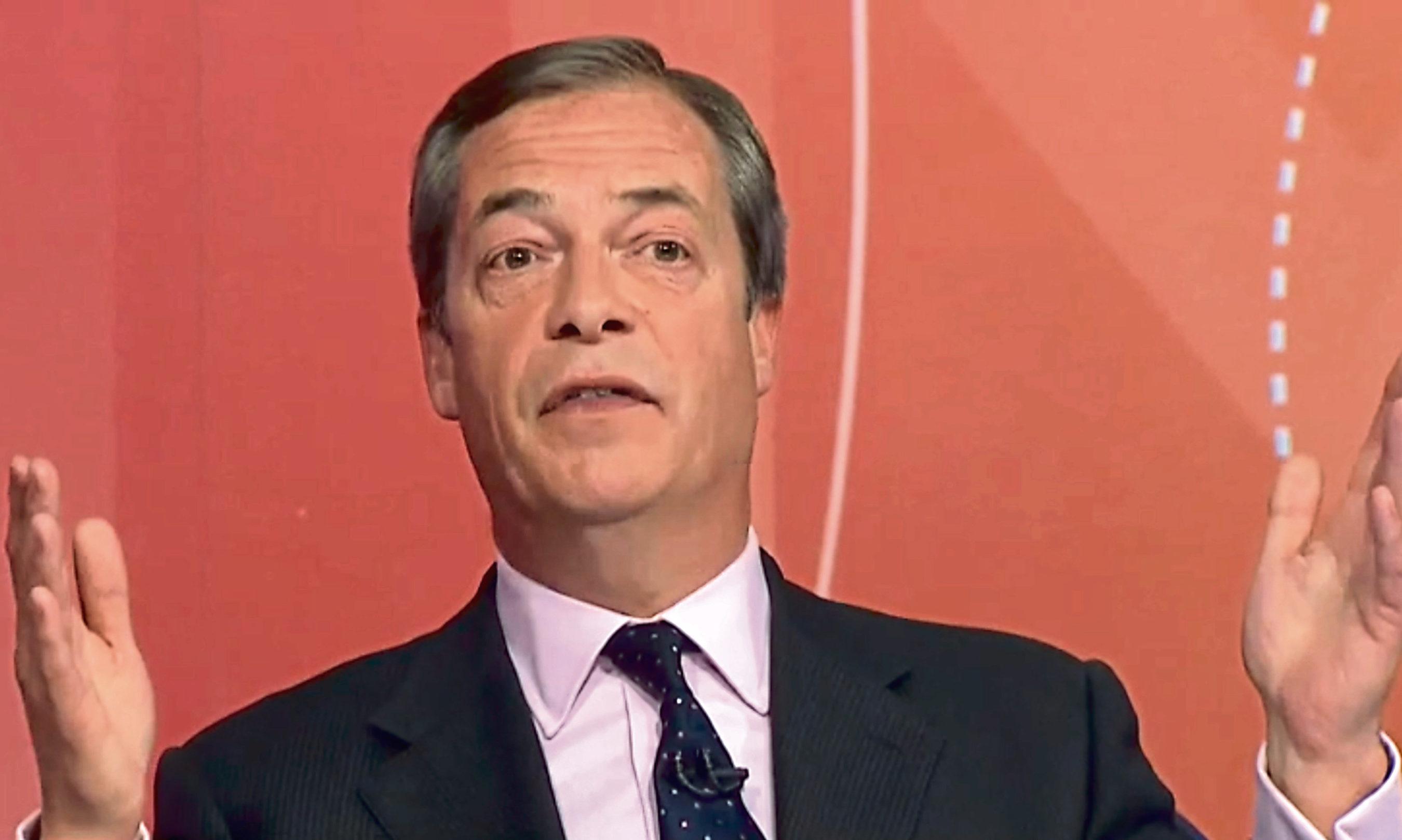 Nigel Farage on Question Time