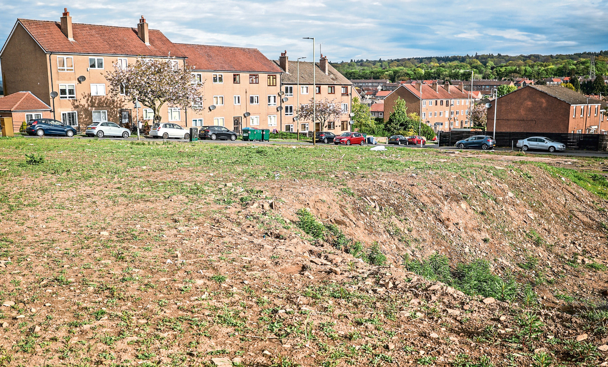 The proposed site, looking towards Buttars Loan