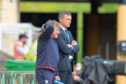Dundee assistant manager Jimmy Boyle and manager Jim McIntyre