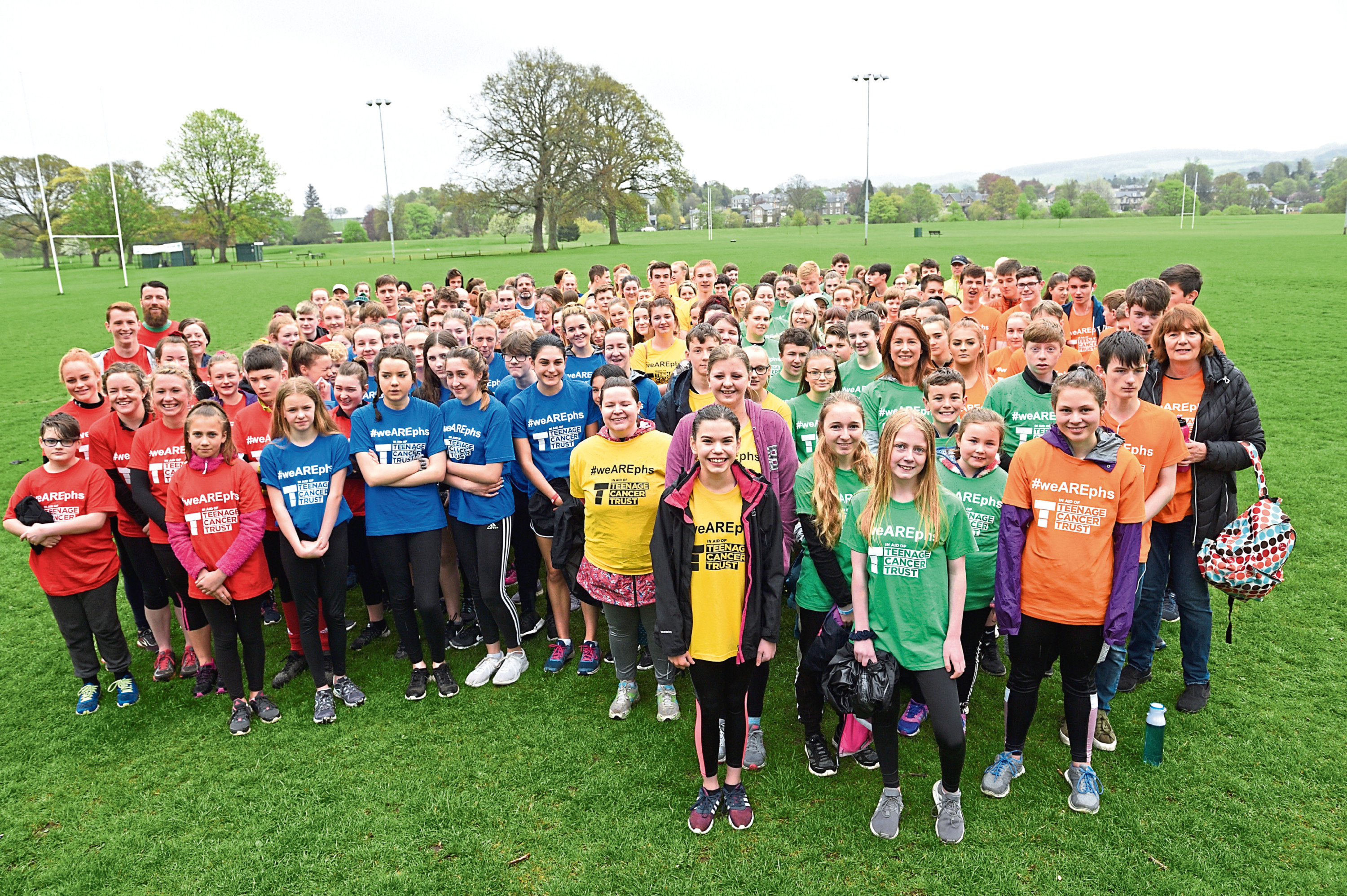 Perth High School group who ran in aid of Teenage Cancer Trust.