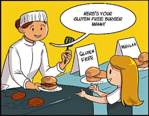 The comic to raise awareness of coeliac disease.