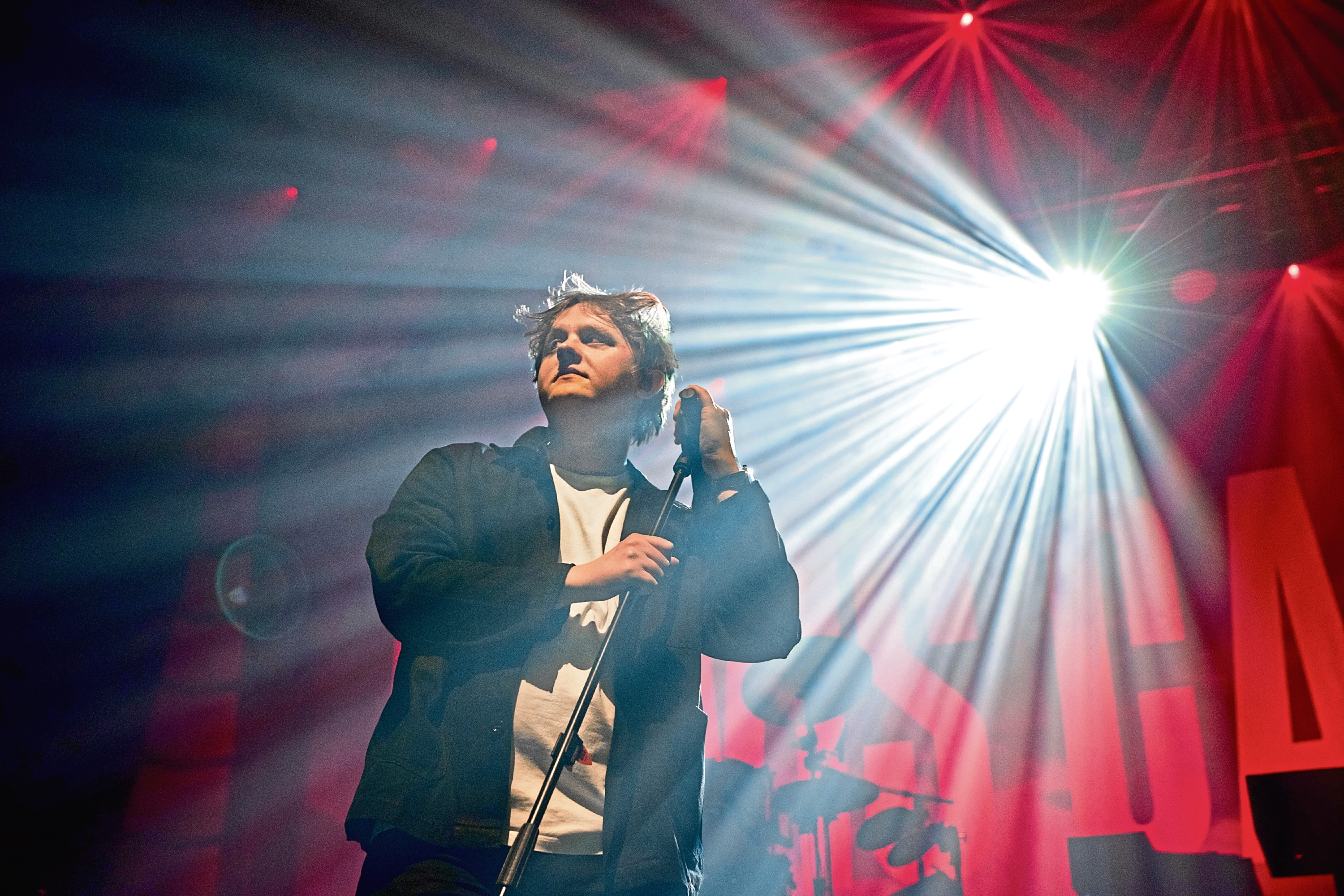 Lewis Capaldi on stage at Perth Concert Hall