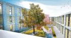 An artist's impression of one of the internal courtyards that sheltered housing will be built around