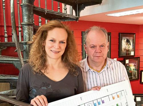 Dundee Art Fair organisers Kim Curson and Mark Gask