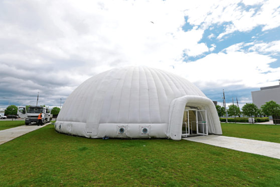 The Inflatable dome.