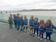 Ninewells nursery kids during the trip to the V&A.