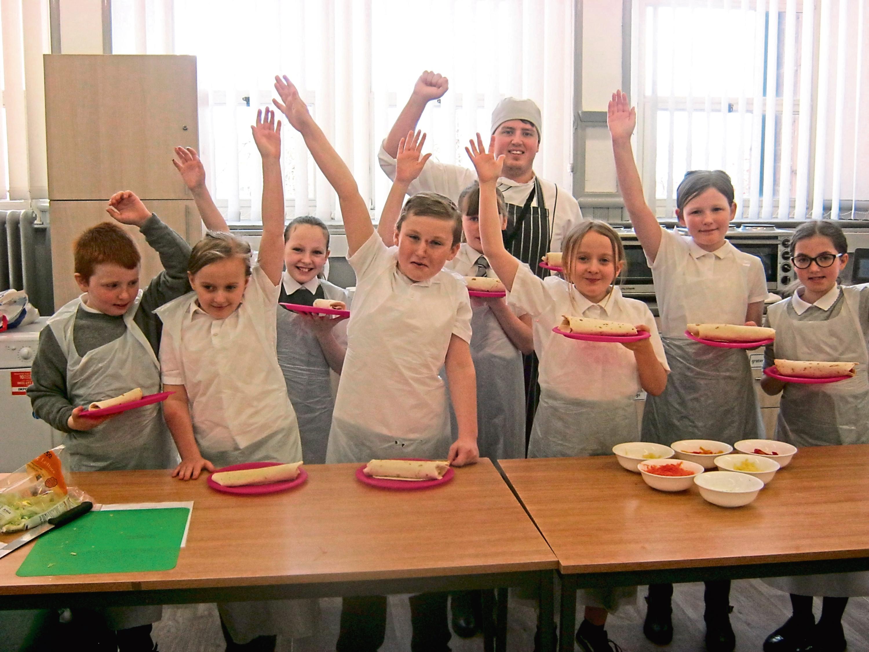 Pupils at Ancrum Road Primary.