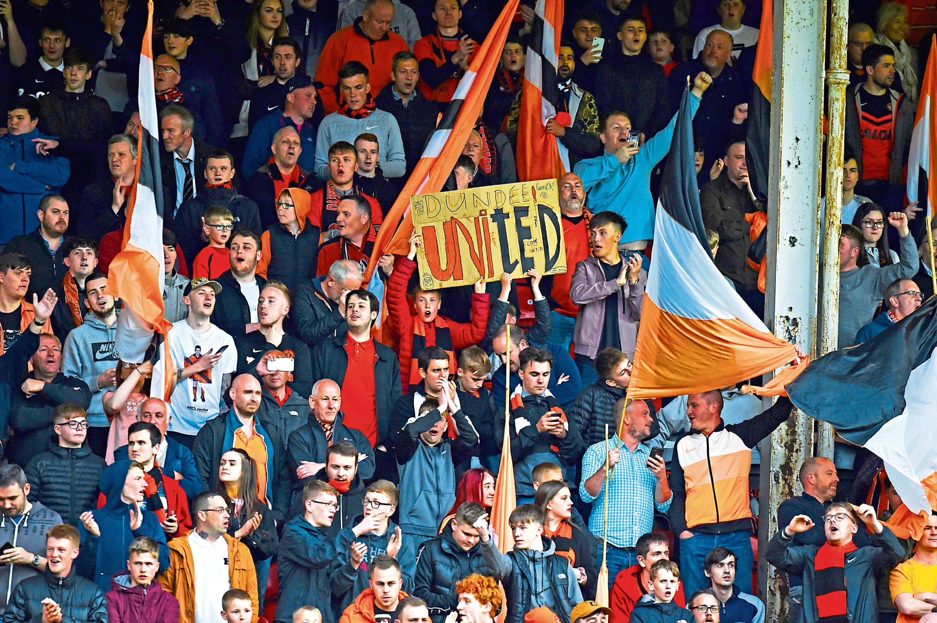 Dundee United fans at Tannadice.