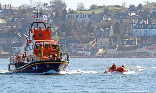 Broughty Ferry lifeboats.