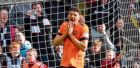 Dundee United's Osman Sow looks dejected after his penalty hits the post against St Mirren