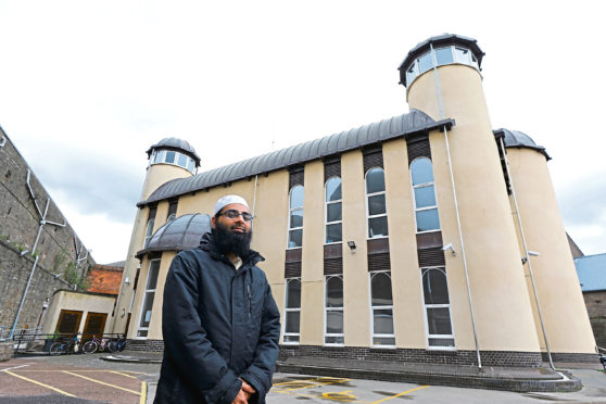 Imam Hamza at the Central Mosque in Dundee.