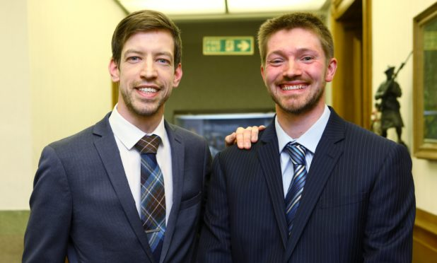 Newly-elected North East councillor Steven Rome (right) with council leader John Alexander.