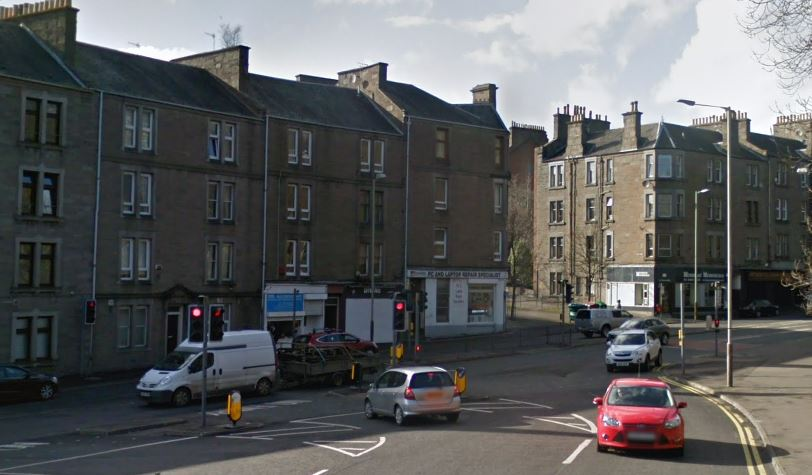 Dudhope Terrace close to the junction with Lochee Road (stock image)