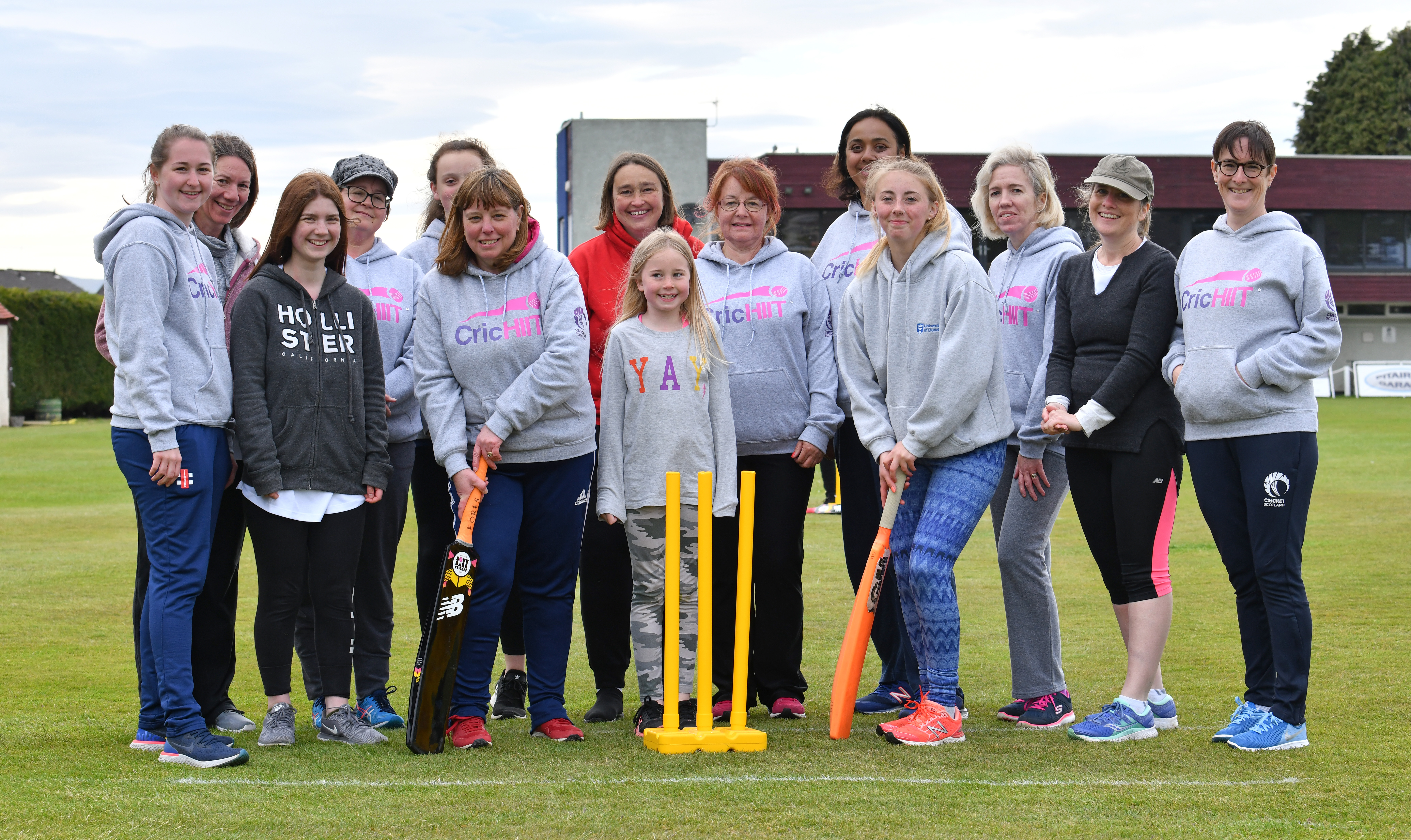 Broughty Ferry-based Forfarshire Cricket Club marked the foundation of their new women's section last Friday with a game of softball cricket.