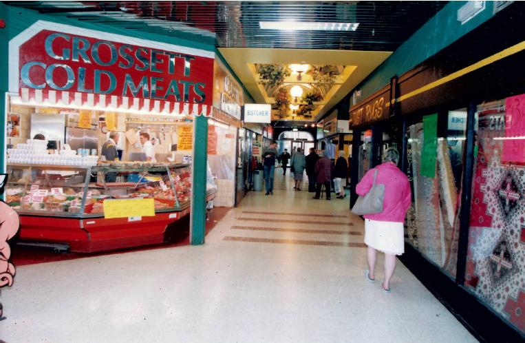 A general view of people shopping in the Keiller Centre in March 1993