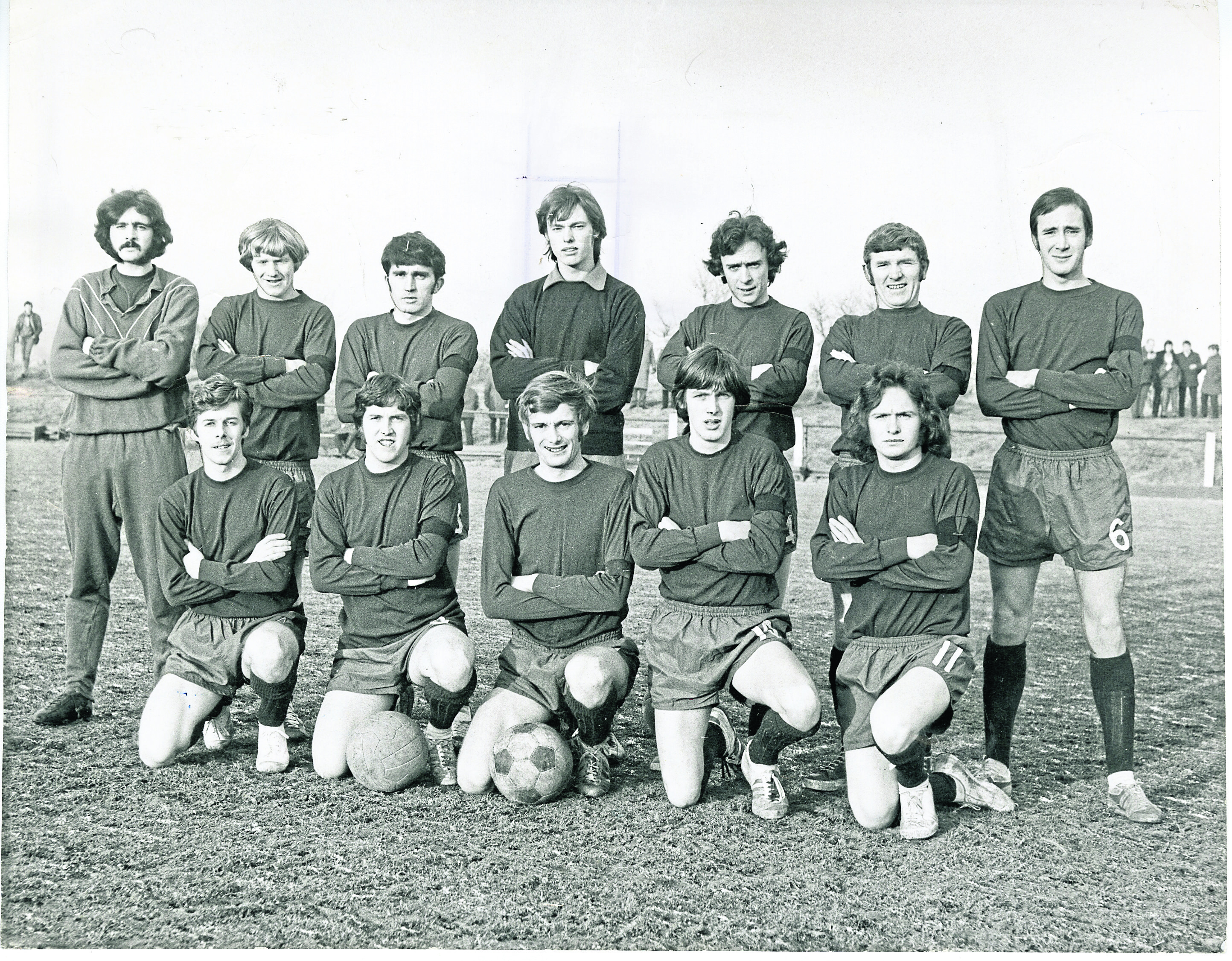 Dundee North End JFC team photo, taken in January 1971.