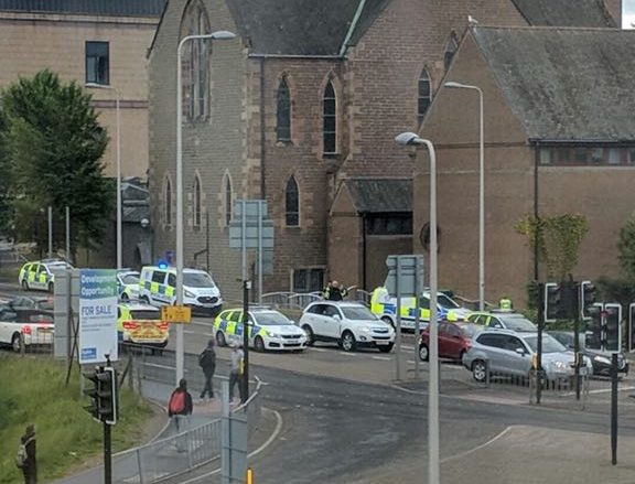 Police at Meadowside St Paul's Church