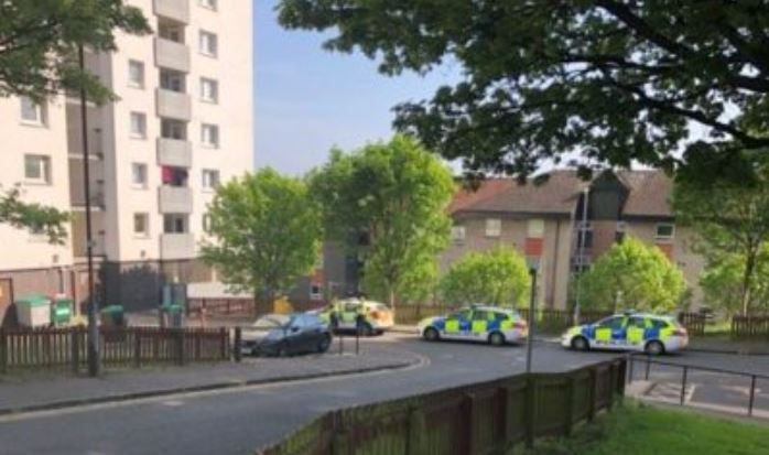 Police at Hilltown Court
