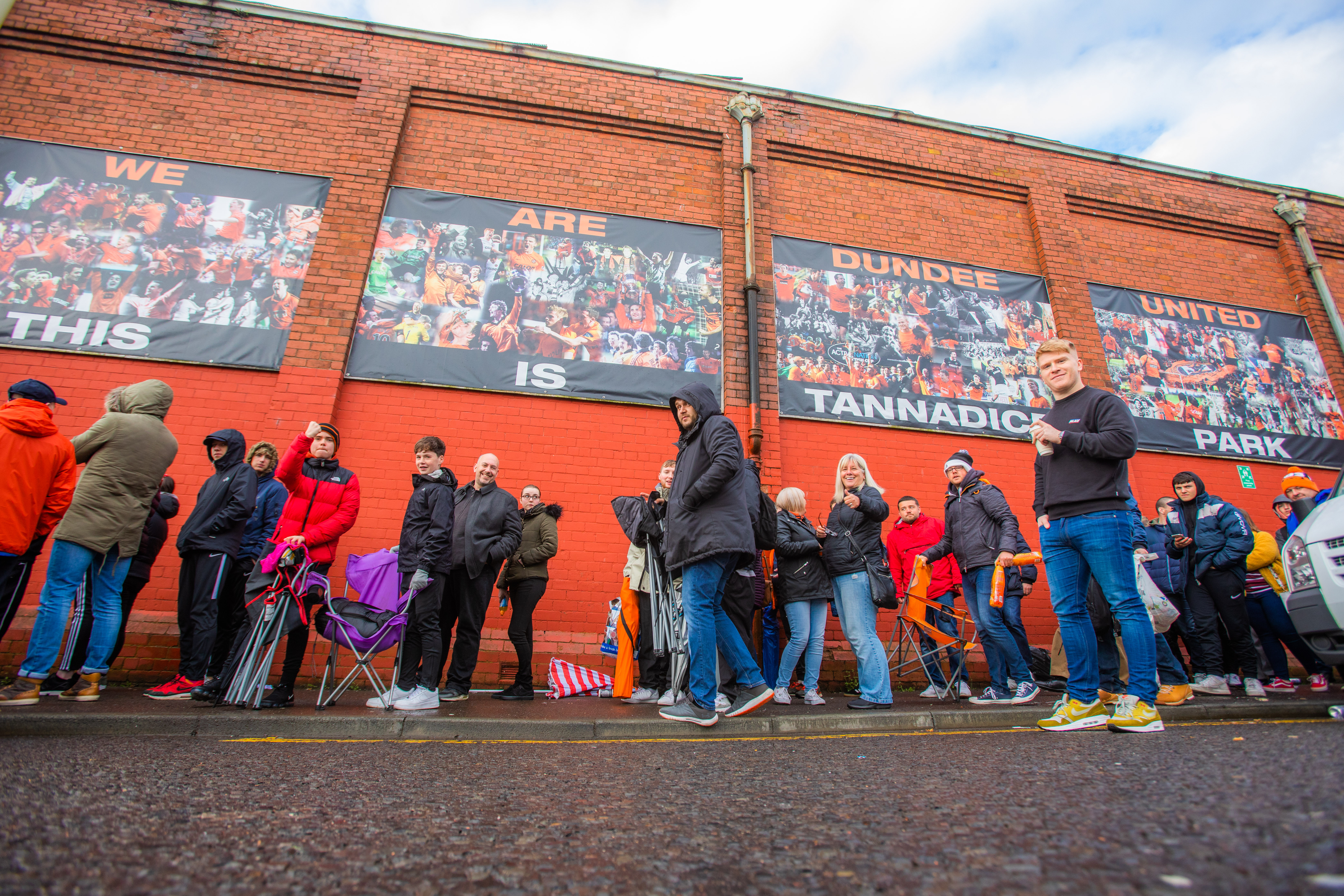 There were queues of hundreds on Monday night into Tuesday morning, as people looked to secure tickets for Sunday's game in Paisley.
